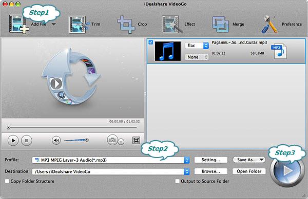 FLAC to MP3 Converter Mac - Convert FLAC to MP3 on Mac OS X