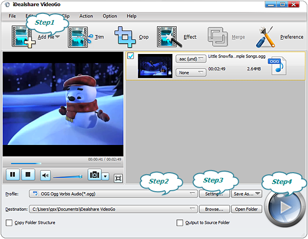 Convert MP3 to OGG Mac Version-iDealshare VideoGo