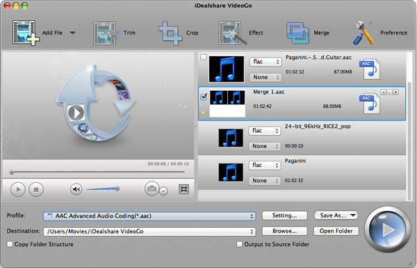 Merge FLAC Files into one