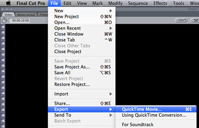 Export Final Cut Pro to QuickTime Movie