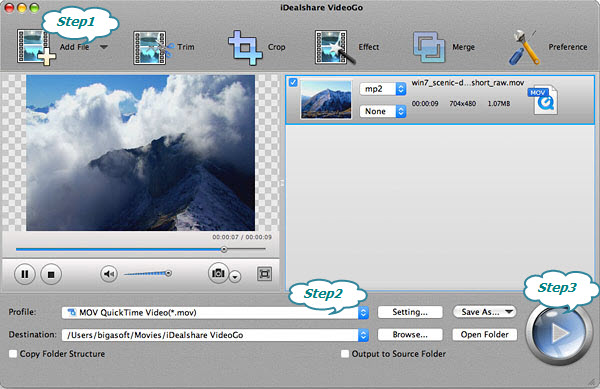 Convert MPG to iMovie