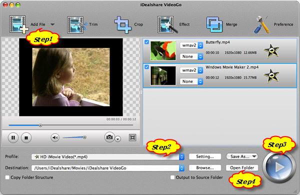 Covert WMV to iMovie