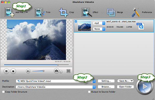 Convert MTS to iMovie to Import MTS to iMovie