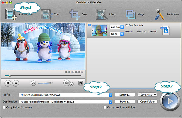 Convert MPEG-2 to QuickTime