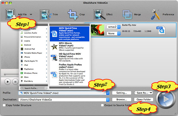 How to Play MXF File on QuickTime, iPhone, iPad, iPod, Apple