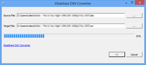 Batch Convert DAV to AVI, MP4, MPG with DAV Converter for