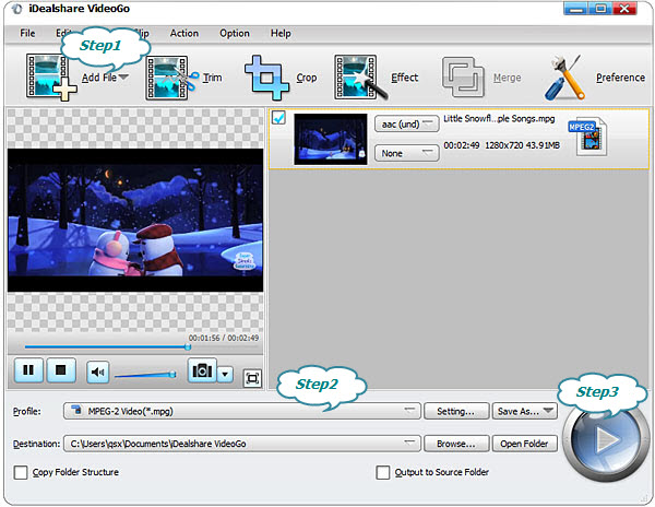free  software converter mp4 to mpeg