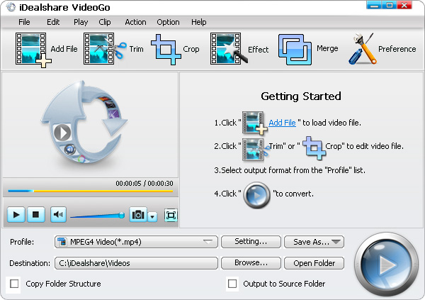 MP4 to Windows Movie Maker Converter - iDealshare VideoGo