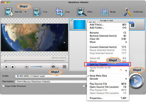 Split MP4 Files on Mac OS X Yosemite