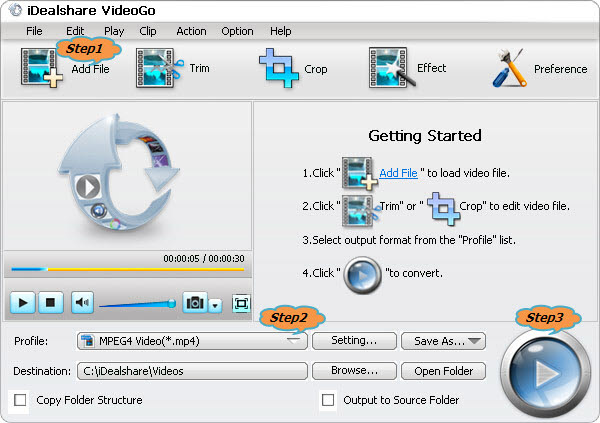 Convert WLMP to AVI, MOV, VOB, ASF, MP4, MPG, FLV etc