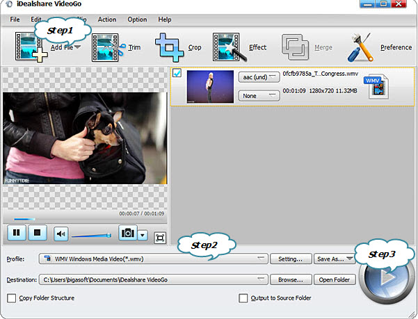 WRF Converter: Convert WRF Videos to WMV, AVI, MPG, 3GP, MP4
